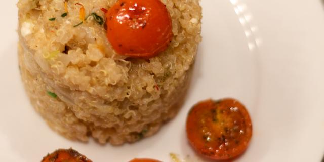 quinoa cu fenicul usturoi verde branza de burduf 1
