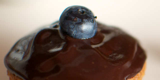 Cupcakes cu afine și ciocolată