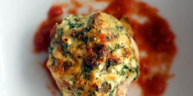 Ciuperci coapte cu cremă de brânză